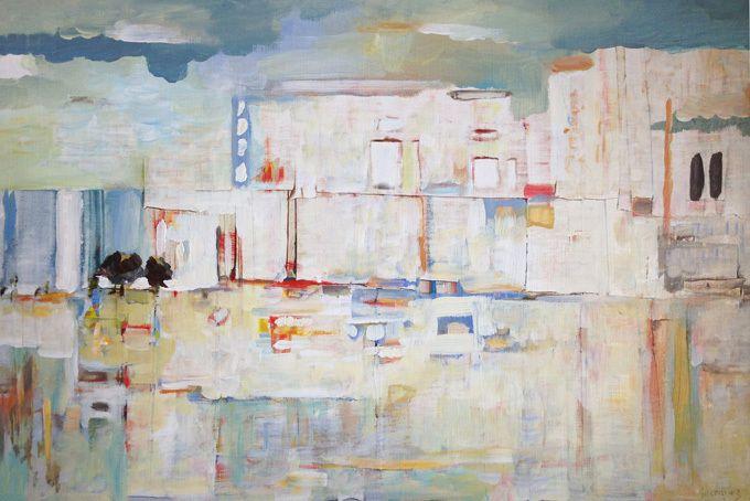 Guermaz - Paysage II, 1992, hst, 34x51cm