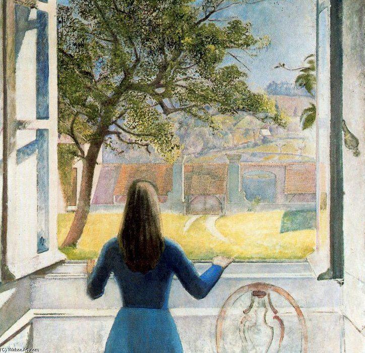 Balthus - Jeune fille a la fenêtre, 1957
