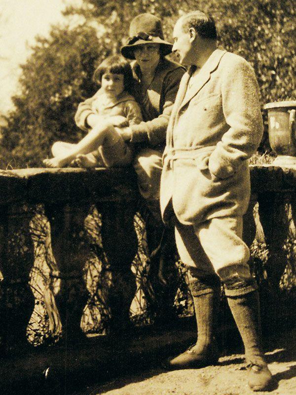 Portrait de Henrri de Jouvenel avec Colette et leur fille