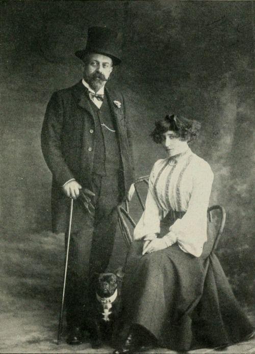 Willy (Henri Gauthier-Villars) et Colette par Eugène Pascau