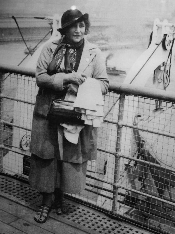 Colette - Sur le Normandie vers New York, 1935