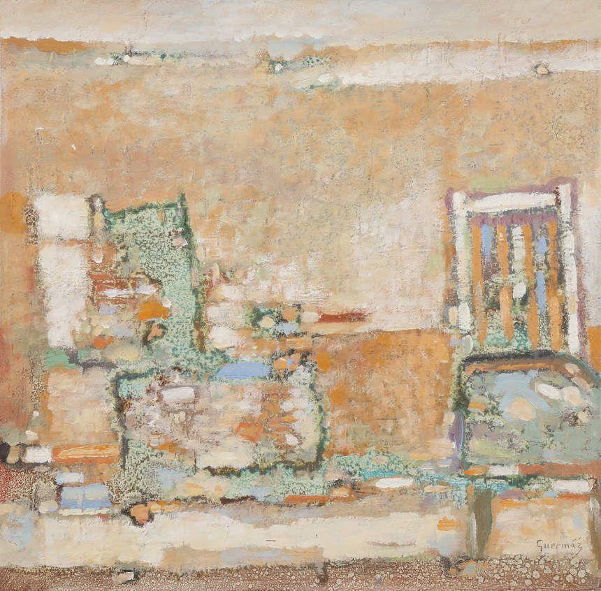 Guermaz - Deux fauteuils, 1995, hsb, 40x40cm