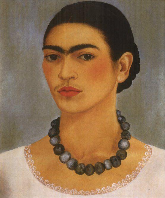Frida Kahlo  - Autoportrait au collier, 1933