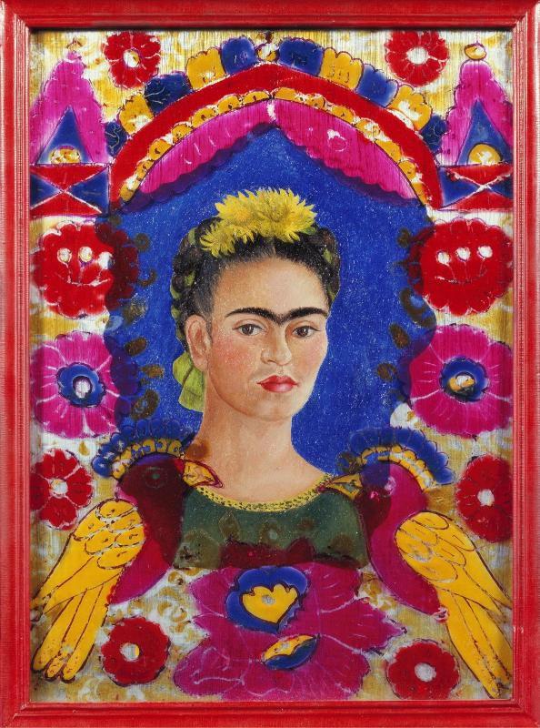 """Frida Kahlo - """"The Frame"""",  Autoportrait de l'artiste, 1938"""