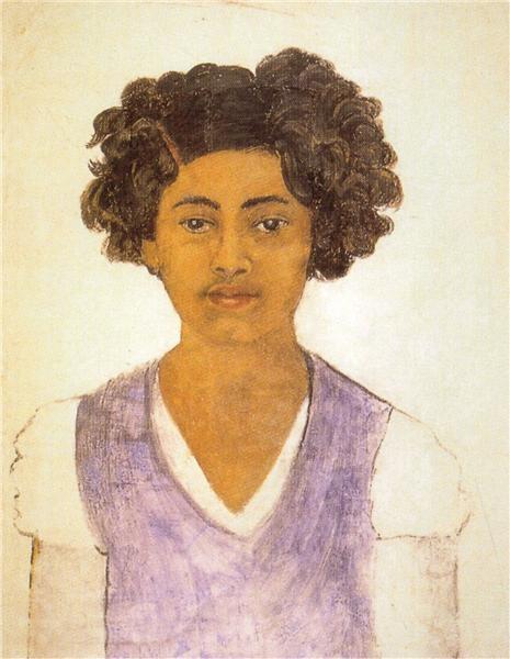 Frida Kahlo - Autoportrait, 1922.