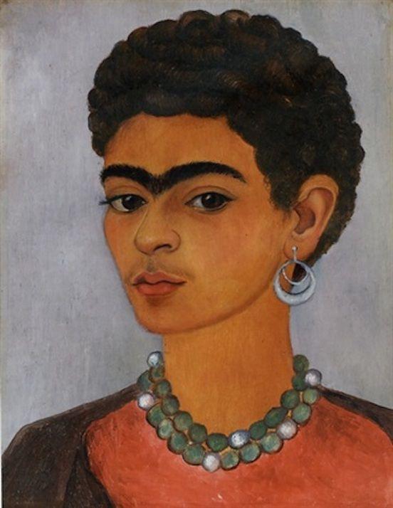 Frida Kahlo - Autoportrait aux cheveux bouclés, 1935