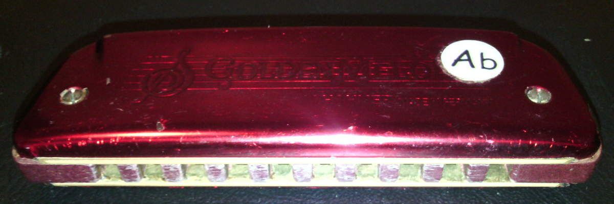Hohner harmonica Golden Melody. Sommier Andrew Zajac capots Blues Moon harmonica