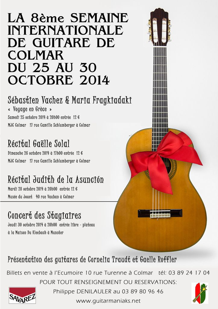 La 8ème semaine de la guitare de Colmar