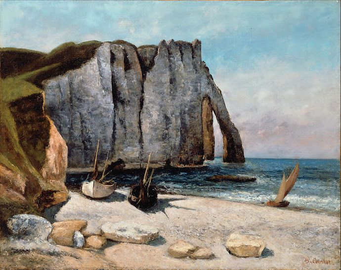 Gustave Courbet Porte d'Aval 1869 Collection privée