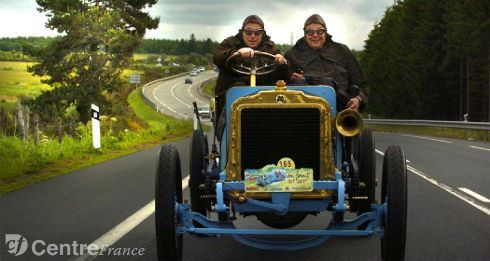 François Michelin et son fils Edouard , décédé lui aussi
