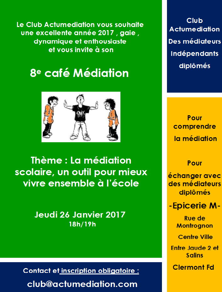 8e café Médiation du Club Actumediation à Clermont Ferrand