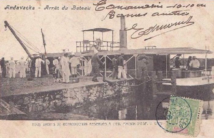 Andavaka Arrpet du bateau