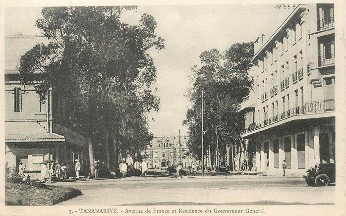 Anenue de France et résidence du Gouverneur Général