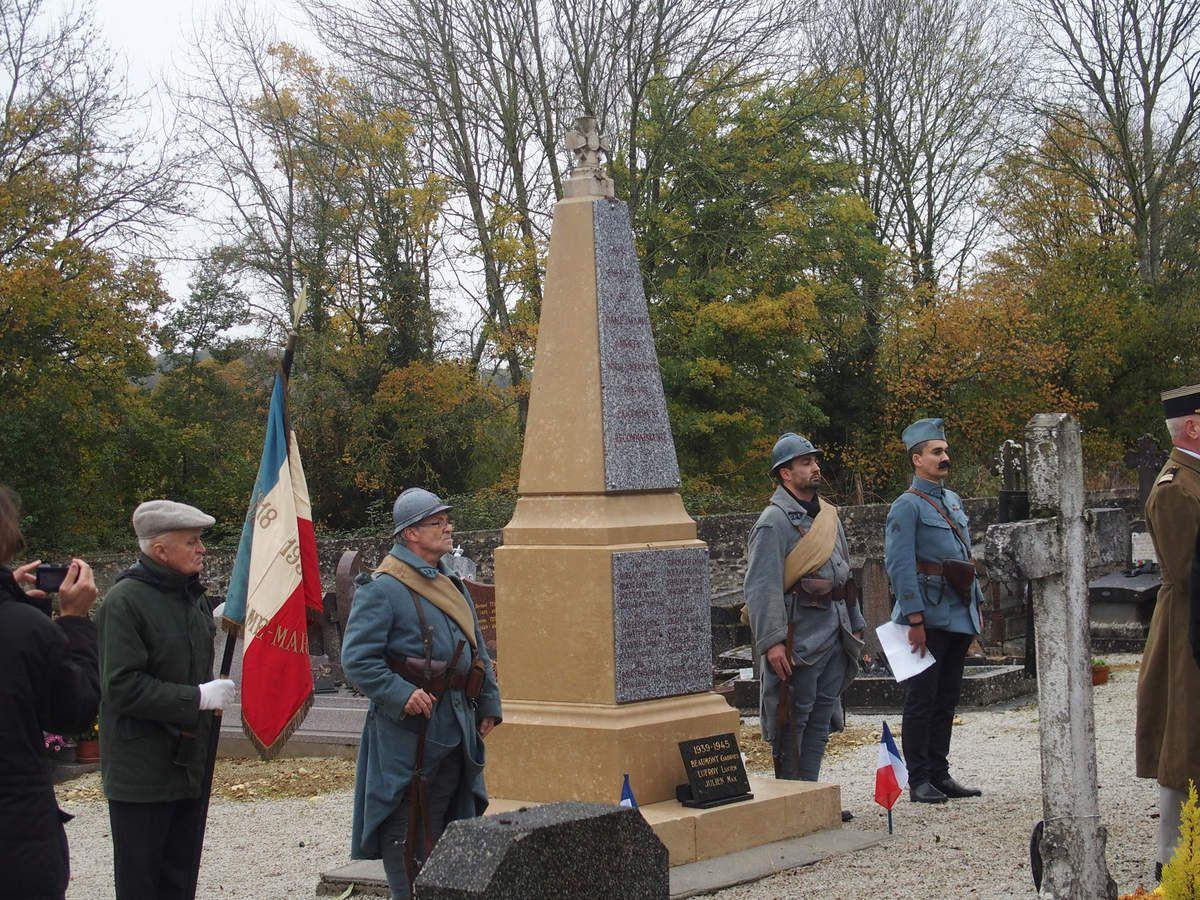 COMMEMORATION DE L'ARMISTICE DU 11 NOVEMBRE 1918 A DAME MARIE