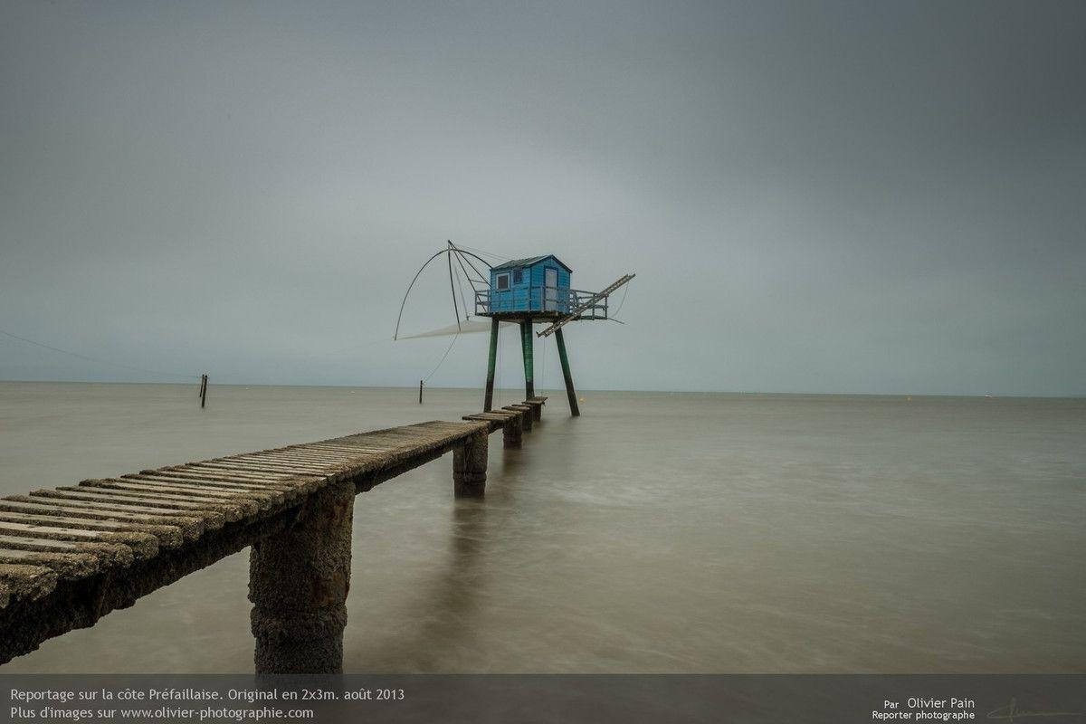 Photos : La pêcherie rénovée de Tharon. Nous l'avions surnomée la pêcherie bleue mais je ne suis pas sur que ce soit son vrai nom.