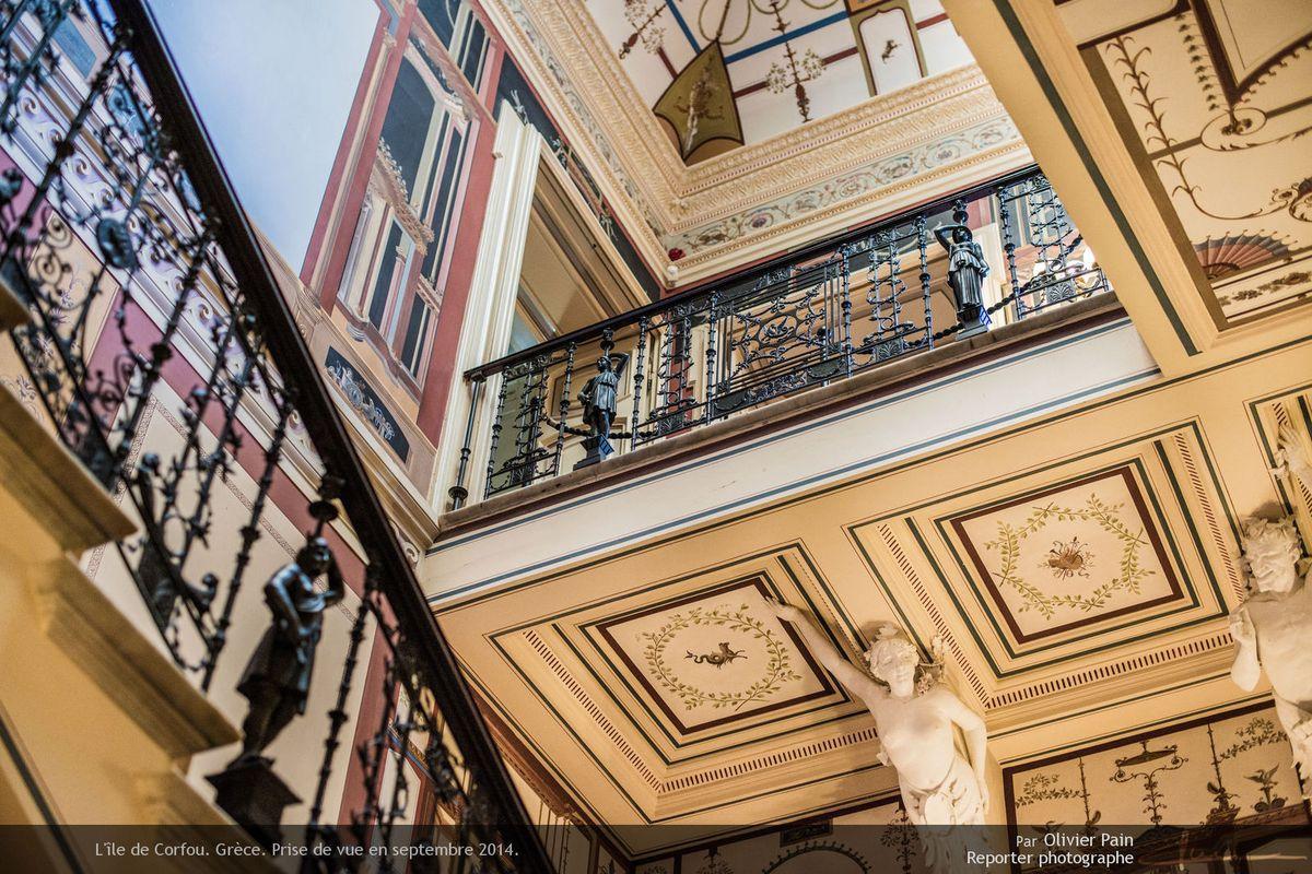 Photo : Vue intérieure de l'Achilleon le palais de Sissi l'impératrice