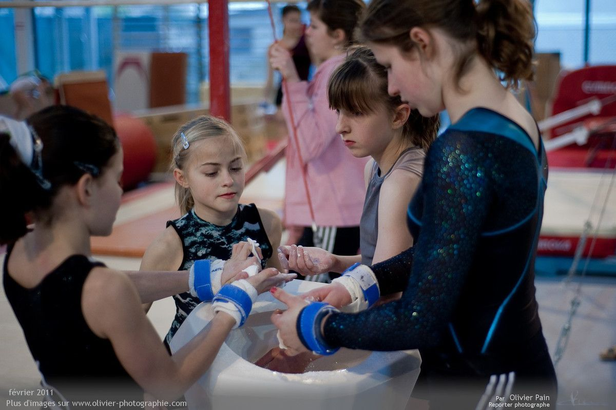 Photo : Les filles au bac à magnésie