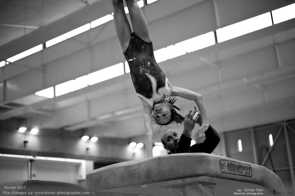 Photo : Travail du saut de cheval avec Olivier.