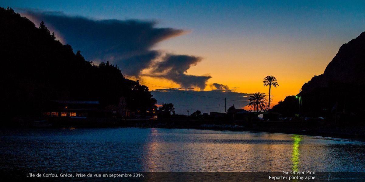 Photo : Paysage sur l'ile de Corfou. Un paysage de rêve.