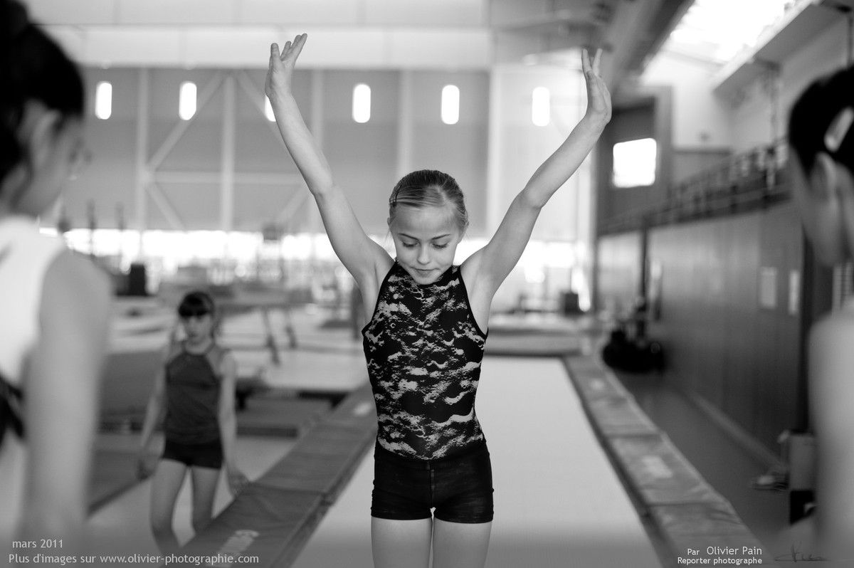 Photographie, reportage Gymnastes : Fanny sur le fastramp.