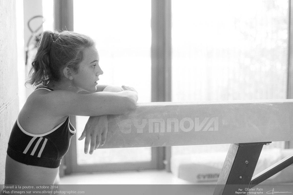 Reportage Gymnastes sur la gymnastique en France. Reportage réalisé à Saint Pierre des Corps à 4km de Tours en France.
