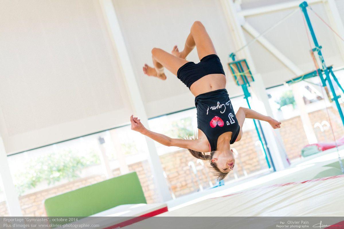 Reportage Gymnastes ayant pour thème la gymnastique en France. Reportage de sport réalisé au gymnase de Saint pierre des Corps à 4 km de Tours en France.