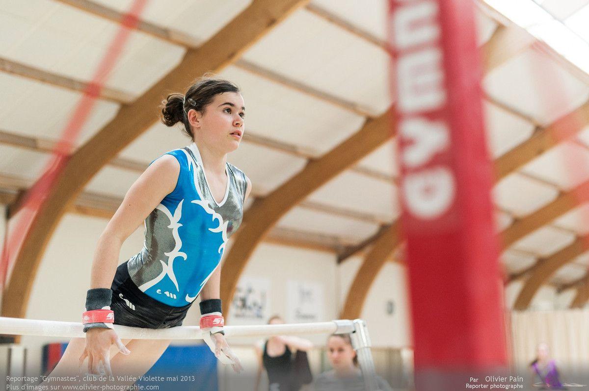 Reportage sur la gymnastique en France réalisé à la vallée violette à joué les Tours près de Tours