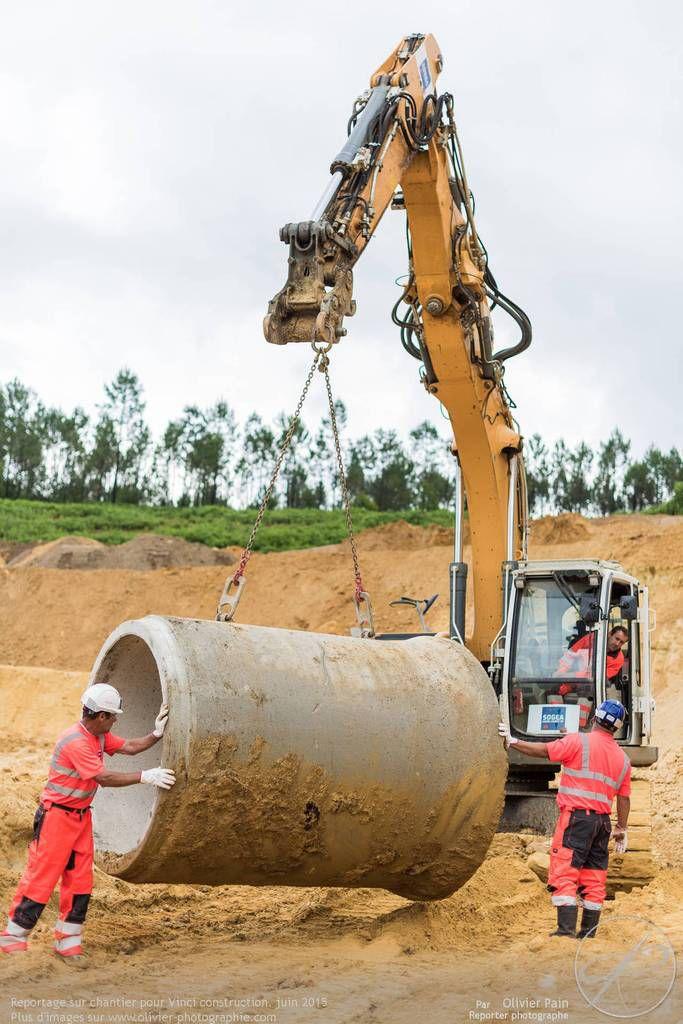 Reportage de suivi sur un chantier Vinci construction