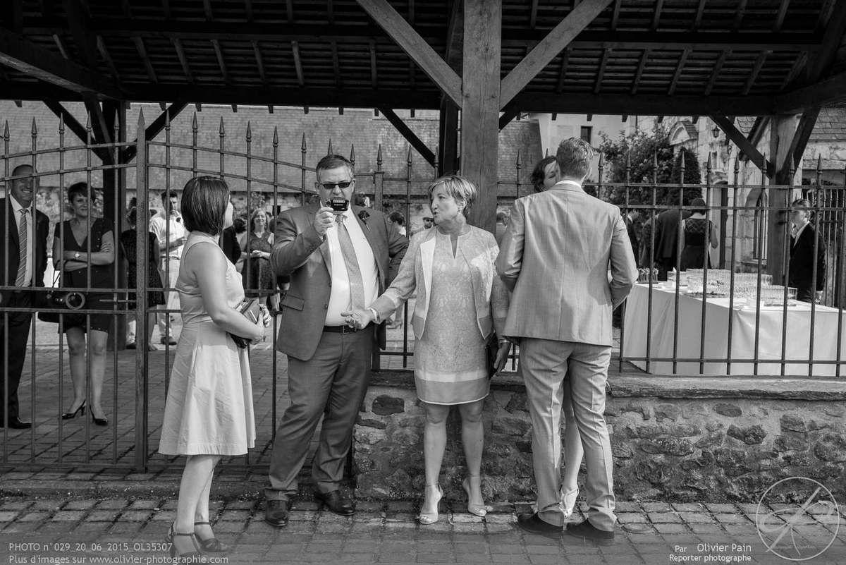 Reportage lors d'un mariage