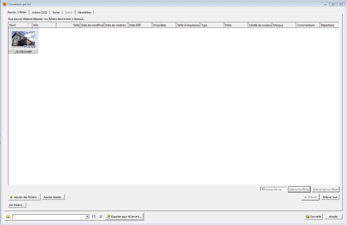 [Image 2] : Fenêtre de Xnview MP s'ouvrant lorsque l'on frappe simultanément CTRL+U