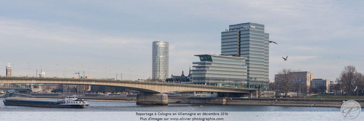 Reportage sur la ville de Cologne, en Allemagne lors des marchés de Noël