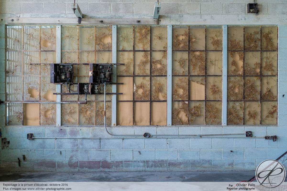 Photoreportage aux états unis, la prison d'Alcatraz vue de l'intérieur. Prison située dans la baie de San Francisco