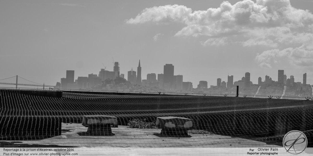 Photoreportage sur l'extérieur de la prison d'Alcatraz dans la baie de San Francisco aux états unis