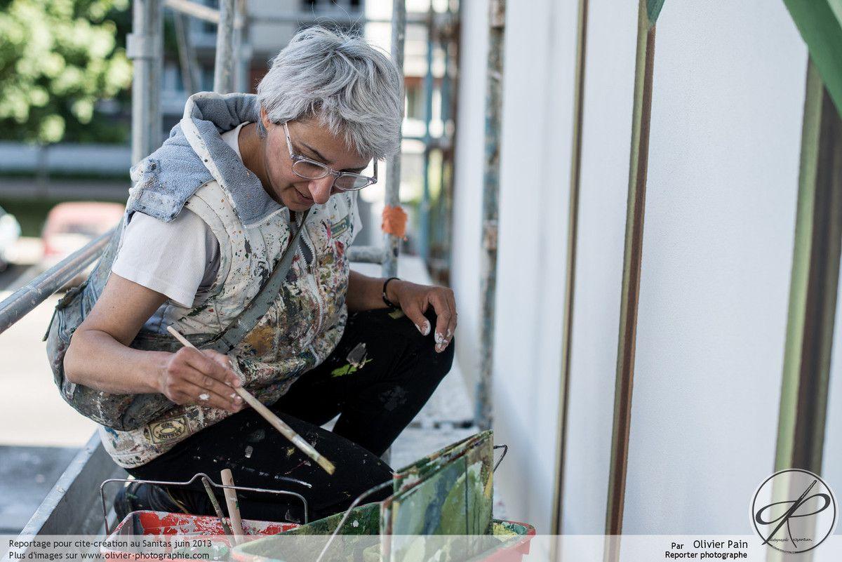 Le chantier des fresques murales au Sanitas à Tours