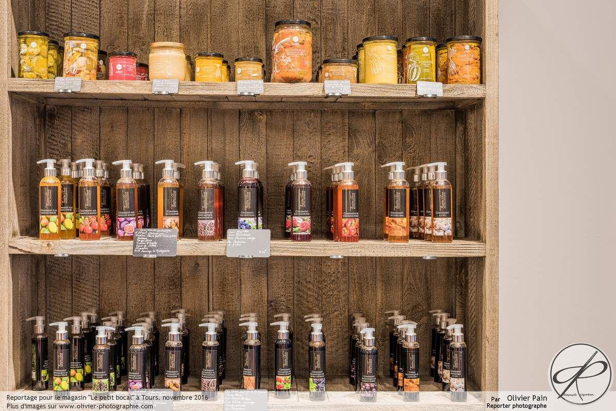Reportage photo d'architecture intérieure pour l'épicerie fine le petit bocal à Tours centre