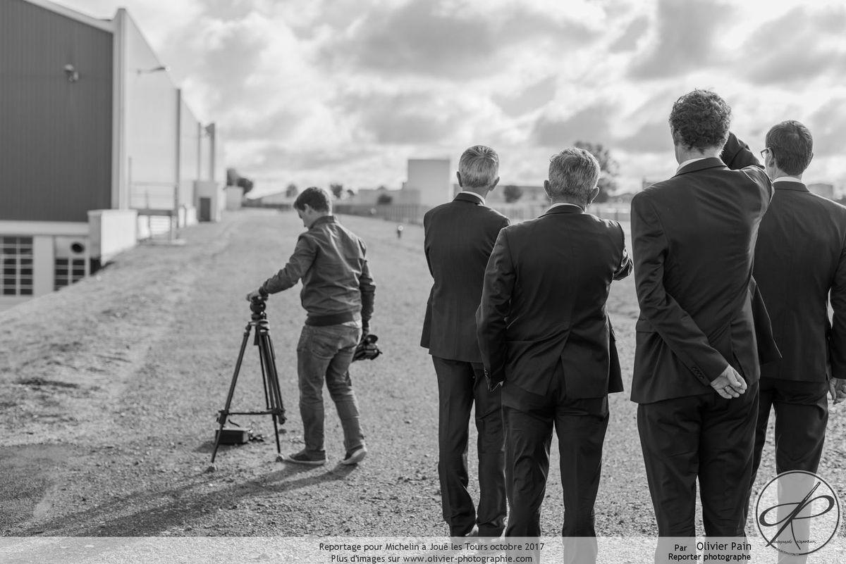 Reportage lors de l'inauguration de la nouvelle usine