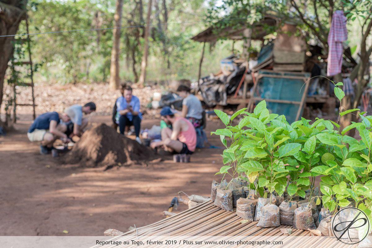 l'utilisation finale des sacs plastiques de récupération par Sichem au Togo.