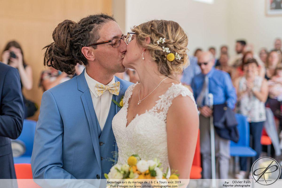 Un superbe mariage à Tours. Reportage mariage en Touraine.