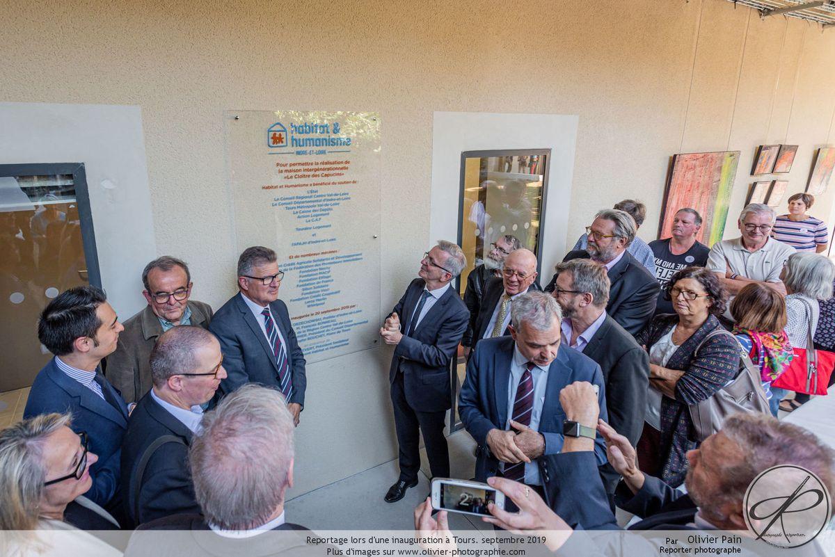 Reportage pour l'inauguration de la maison intergénérationnelle à Tours Nord. Vues d'architecture intérieure et extérieure.