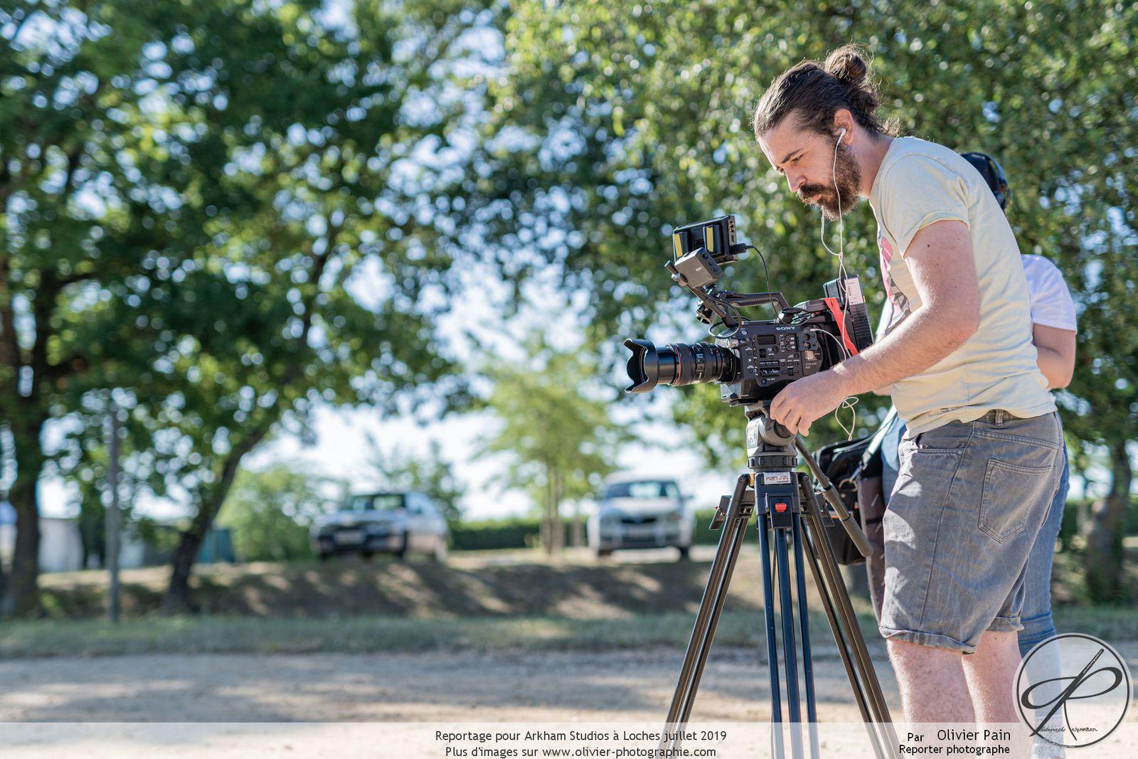 Reportage lors des backstages d'un tournage pour Arkham Studio à Loches