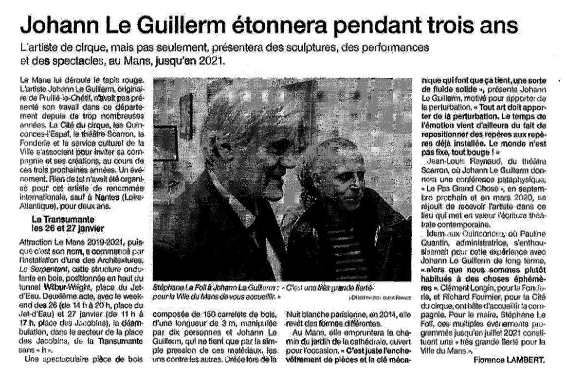 Ouest France - 16/01/2019