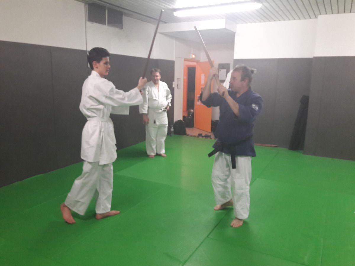 Cours Katori Shinto Ryu ouvert à tous du Jeudi 22 mars 2018 : quelques photos