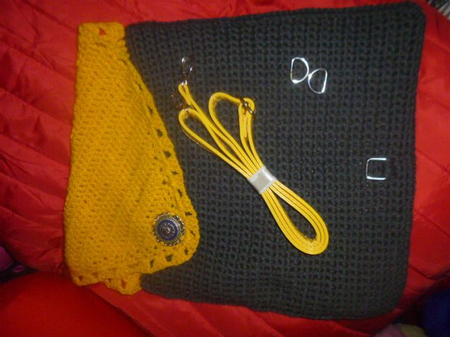 Tuto sac crochet gris&jaune