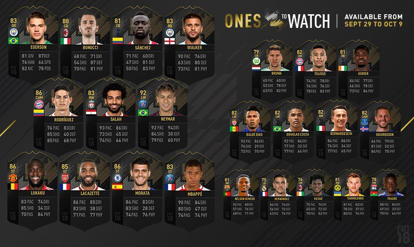 Fifa 18 23 Nouveaux Otw One To Watch Fifa Ultimate