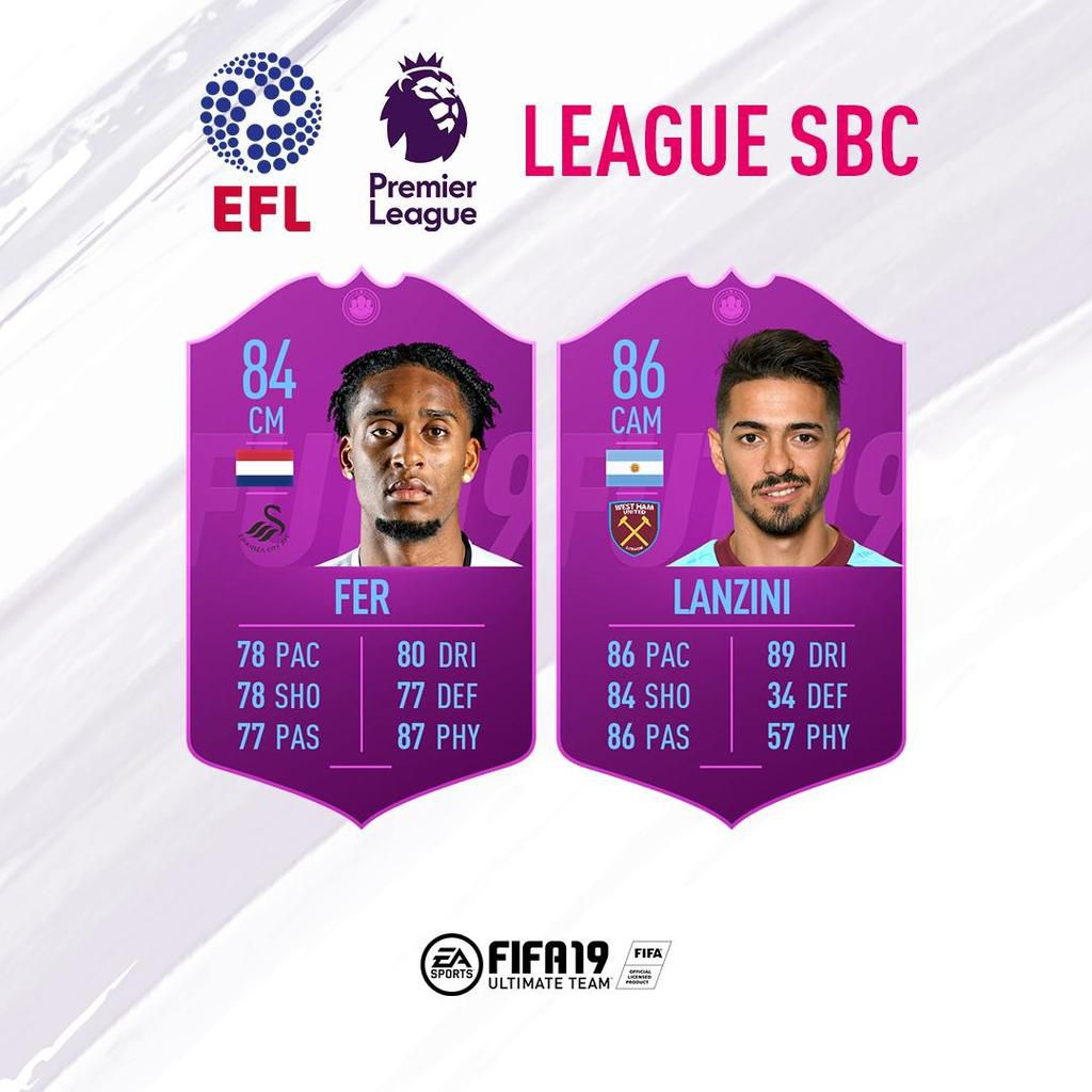 sbc league fifa 19