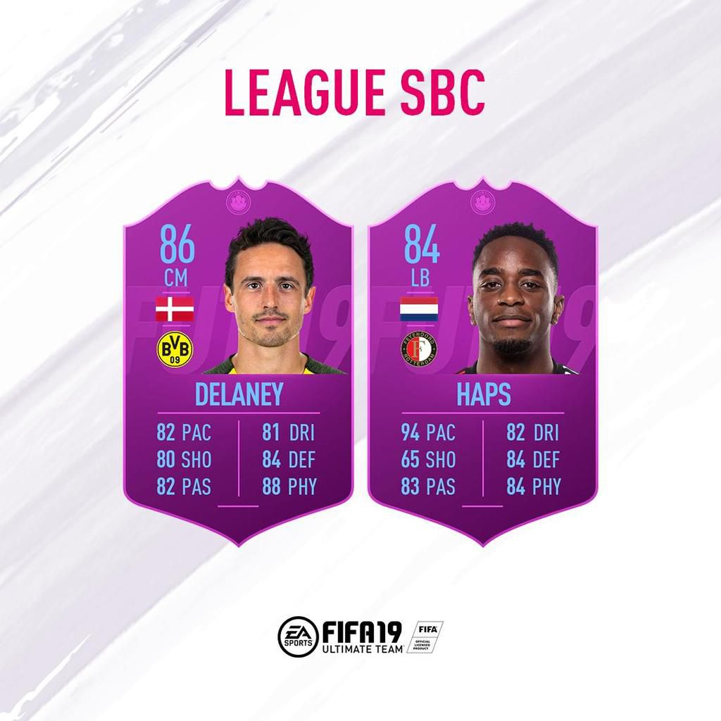 delaney fifa 19 sbc ligue