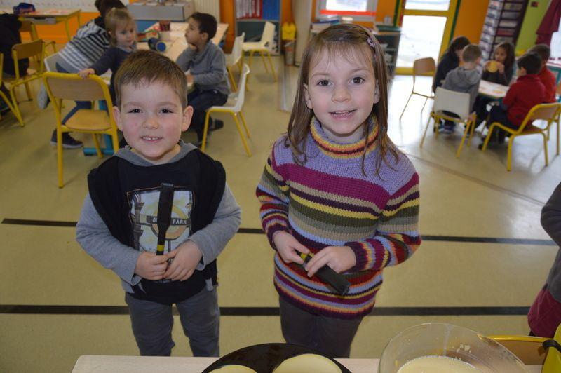Les MS/GS d'Anne-Sophie font des crêpes !