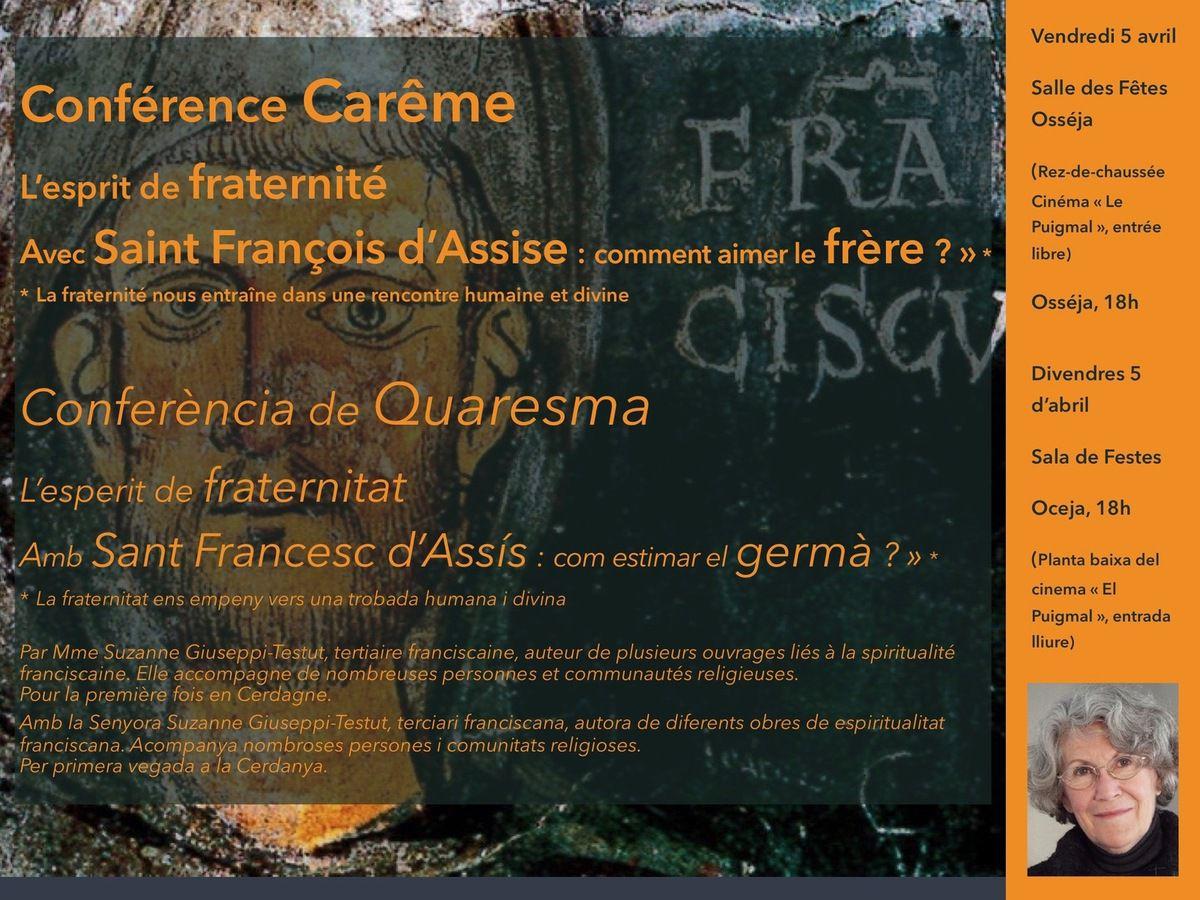 Conférence de Carême / Conferència de Quaresma...
