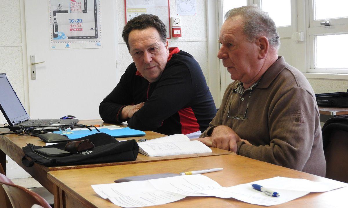 Claude Lacam et André Demaizy, membres du Codep 22.