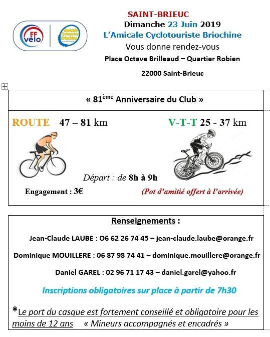 81 ans de l'Amicale Cyclotouriste Briochine